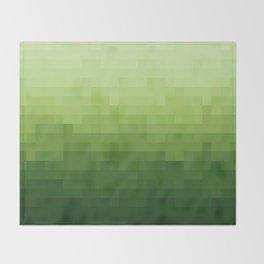 Gradient Pixel Green Throw Blanket