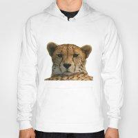 cheetah Hoodies featuring Cheetah by Sean Foreman