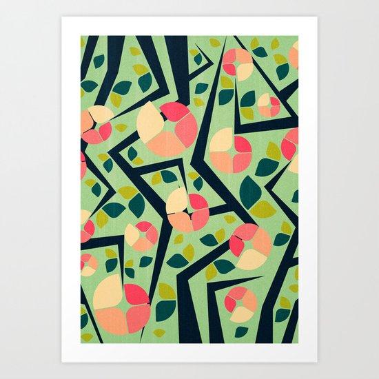 Blooming Trees Pattern II Art Print