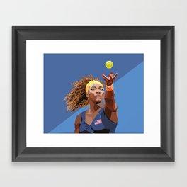 American Tennis Champion Framed Art Print