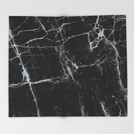 Black Marble Edition 1 Throw Blanket