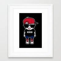 hiphop Framed Art Prints featuring 30Billion - Hiphop Bear 01 by 30Billion
