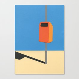 Orange Trash Can Canvas Print
