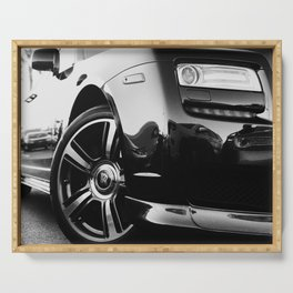 Rolls Rims // Black and White Luxury Super Car Photography Real Life Street Shots Serving Tray