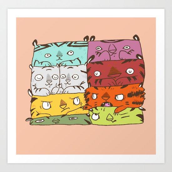 Tiger Kuubs Art Print