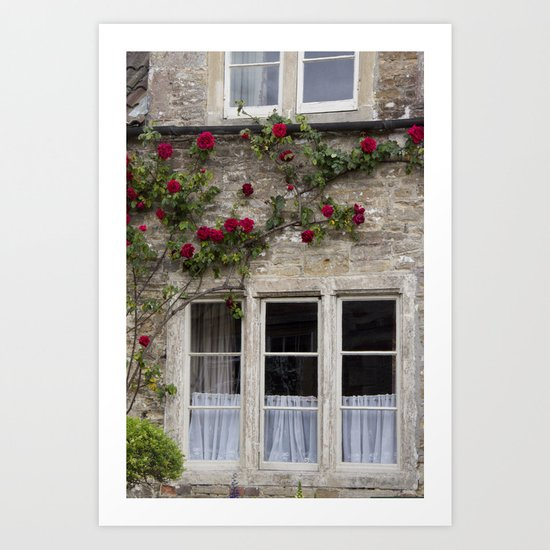 English Garden - Window Art Print