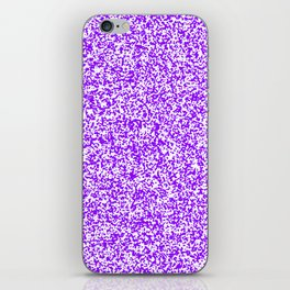 Tiny Spots - White and Violet iPhone Skin