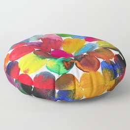 Colored Circles in watercolor Floor Pillow