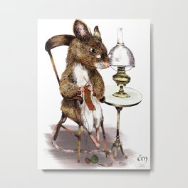 THE GRAND-MOTHER MOUSE Metal Print