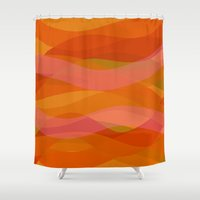 discount Shower Curtains featuring Warm breeze by R Jordan