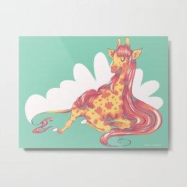 Lovely Giraffe 1 Metal Print