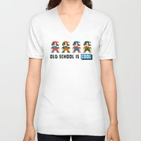 mario V-neck T-shirts featuring Mario by PixelPower