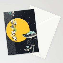 soleil couchant sur nénuphars Stationery Cards