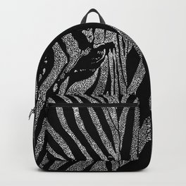 Zebra Drawn in White Dots Backpack