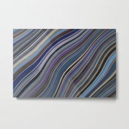 Mild Wavy Lines IV Metal Print