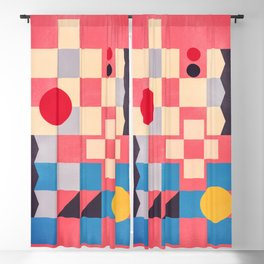 geometric abstract 220 Blackout Curtain