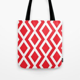 Red Diamond Tote Bag