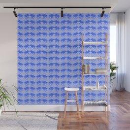 Blue Dinosaur Triceratops Pattern Ultra High Definition Wall Mural
