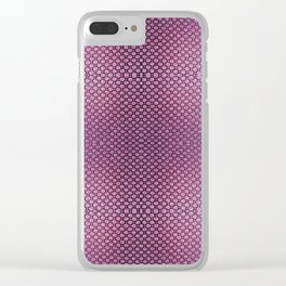 Purple Velvet Dot Pattern Art Clear iPhone Case