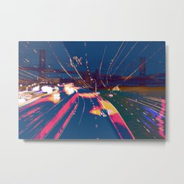 Neon Highways Metal Print