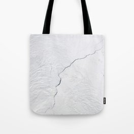 Open water lead above Canada, Arctic Ocean Tote Bag