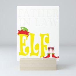 father in law elf, santa, elf, elf gifts, santa christmas, xmas, santa gifts Mini Art Print
