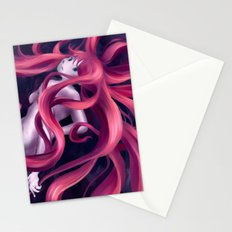 Swirly hair Stationery Cards
