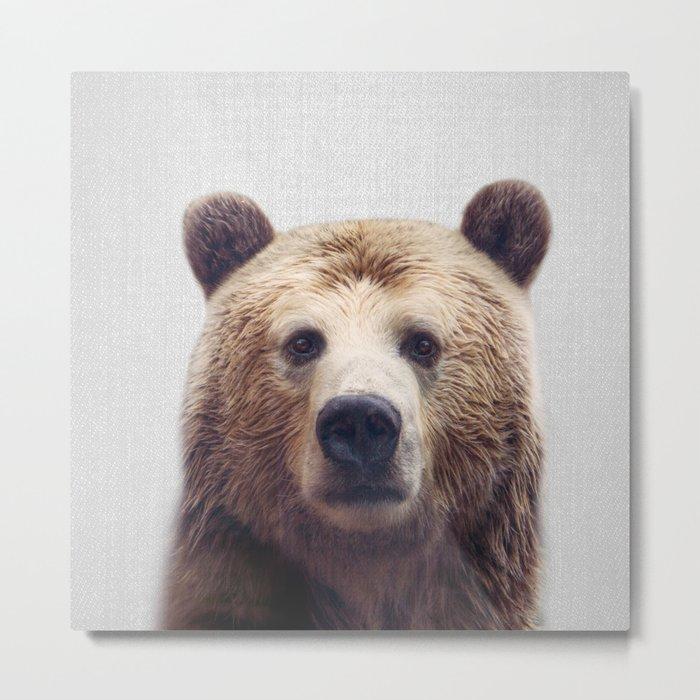 Bear - Colorful Metal Print