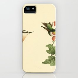 040 Red throated Hummingbird male and female (Trochilus colubris) Red bellied Nuthatch (Sitta canadensis)13 iPhone Case