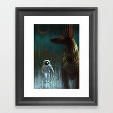 On a leash Framed Art Print