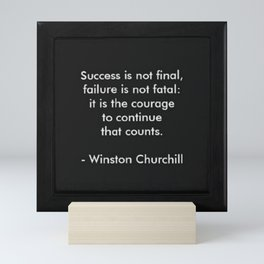 Winston Churchill Success Quote Art - Famous Quotes -Inspirational Quote - Corbin Henry Mini Art Print