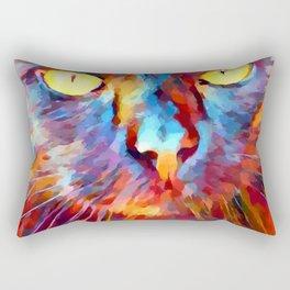 Cat Watercolor Rectangular Pillow