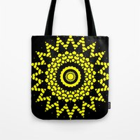compass Tote Bags featuring Compass by Mr. Pattern Man
