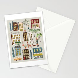 NYC Brownstones Stationery Cards