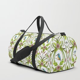 Common Kingfisher, Water Lilies, Dragonflies & Cattails Pattern Duffle Bag