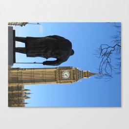 Big Ben and Winston Churhhill Canvas Print