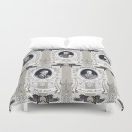 My favorite Authors Toile de Jouy Duvet Cover