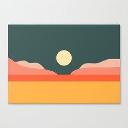Geometric Landscape 14 Canvas Print