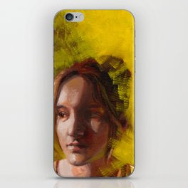 Megan, Fine Art Oil Painting Portrait Print iPhone Skin