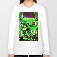 chess Long Sleeve T-shirts featuring Chess 2044 by BarWy