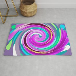 Purple twirl Rug