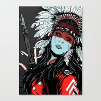 hunter Canvas Prints featuring Hunter by Filipe Survival