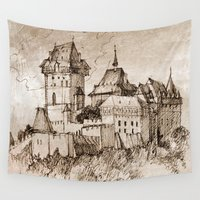 castle Wall Tapestries featuring Castle by Bunny Noir