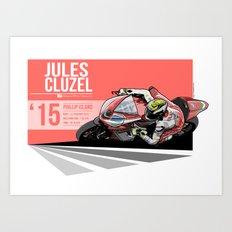 Jules Cluzel - 2015 Phillip Island Art Print