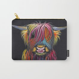 Scottish Highland Cow ' BRAVEHEART ' by Shirley MacArthur Carry-All Pouch