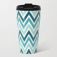 Indie Spice: Turquoise Chevron Travel Mug