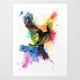 The colourful crow Art Print