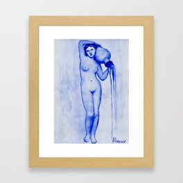 INGRES'S BLUE DREAMS: THE SPRING Framed Art Print