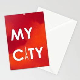 MyCity-Paris-RedOrangeA Stationery Cards