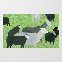 sheep Area & Throw Rugs featuring Sheep by Yuliya
